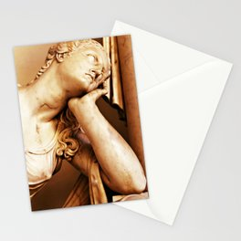 Statue thoughtful Stationery Cards