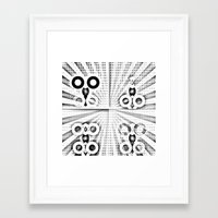 matrix Framed Art Prints featuring Matrix  by Amanda Chapdelaine