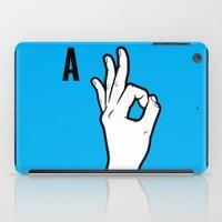 kim sy ok iPad Cases featuring OK by MCKIBILLO