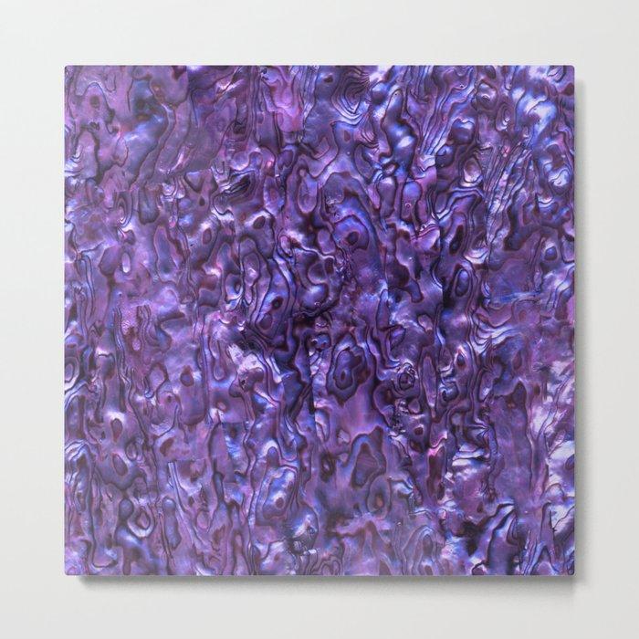 Abalone Shell | Paua Shell | Sea Shells | Patterns in Nature | Violet Tint | Metal Print
