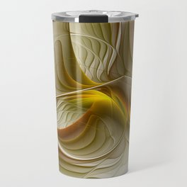 Abstract With Colors Of Precious Metals, Fractal Art Travel Mug