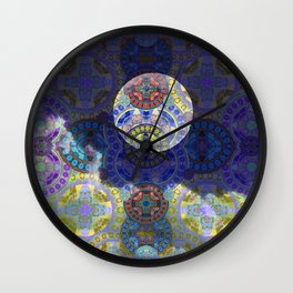 Hovering Moonscape Wall Clock