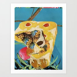 Upside Down Pineapple Cake Art Print