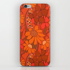 Vintage floral linen fabric  iPhone & iPod Skin