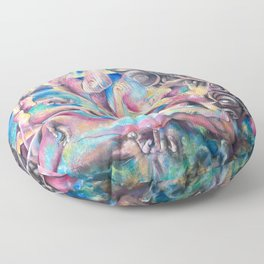 Beginning of the Age of Tolerance Floor Pillow