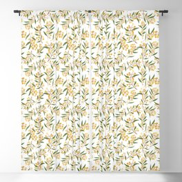 Wattle Collaged Repeat Pattern Blackout Curtain