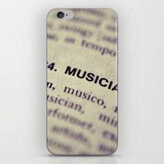 464. Musician iPhone & iPod Skin
