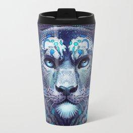 Snow Leopard Late Night Travel Mug