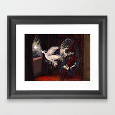 The Sorcerer and the Simourgh  Framed Art Print