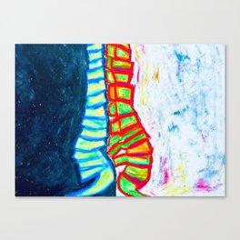 Ying Yang Spinal Canvas Print