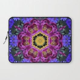 Floral finery - vivid kaleidoscope 20170321_135334 e k1 Laptop Sleeve