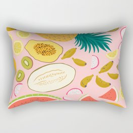 Tropical Fruit Salad Rectangular Pillow