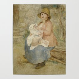 Maternity (Child at the breast) Poster