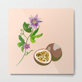 Passiflora Passion flowers Metal Print