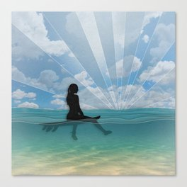 View from a Surfboard Canvas Print