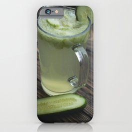 Homemade cucumber lemonade iPhone Case