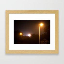 Suburbian Lights Framed Art Print