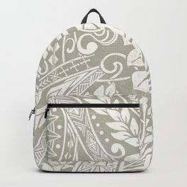 Vintage Organic Samoan Tribal Design Backpack