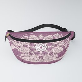 flower of the leaves on the violet gradient Fanny Pack