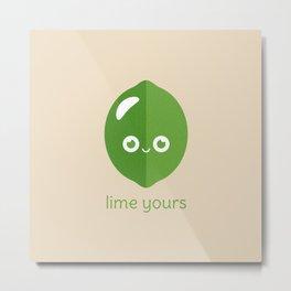Lime Yours Metal Print