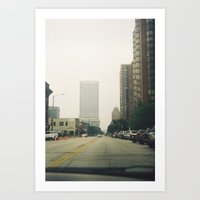milwaukee Art Prints featuring Milwaukee by Melfaber