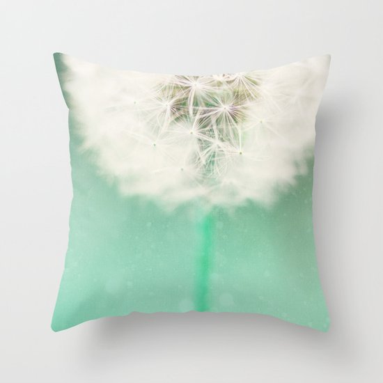 Dandelion Seed Throw Pillow