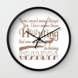 Hunting Grandpa Wall Clock