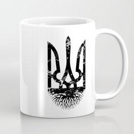 Ukrainian Roots Vintage Tryzub - Distressed Coat of Arms Ukraine Coffee Mug