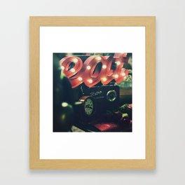 Diner Themed Retro Photo Framed Art Print