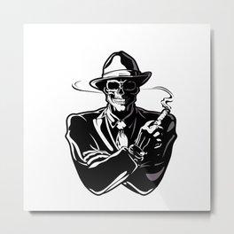 gangster skull. Metal Print