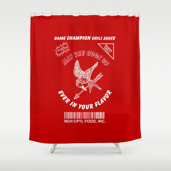 May The Odds Be Ever In Your Flavor Shower Curtain