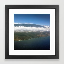 Island above clouds Framed Art Print