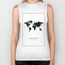 World Map, Biker Tank