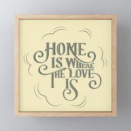 Home is Where The Love Is Framed Mini Art Print