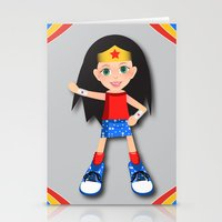 girl power Stationery Cards featuring Girl Power by Vannina