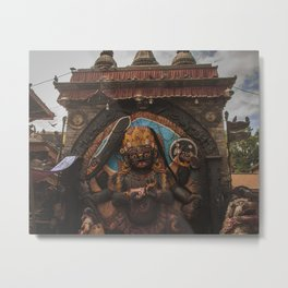 Temples and Architecture of Kathmandu City, Nepal 001 Metal Print