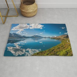 Breathtaking View from a famous scenic Lookout at Lake Wakatipu Rug