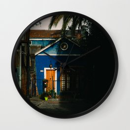 The Little House in Valparaiso, Chile Wall Clock