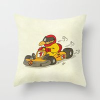 f1 Throw Pillows featuring F1 by Pepan