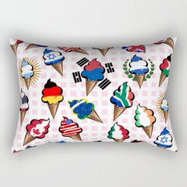 Ice cream flags Rectangular Pillow