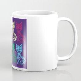 Folk Cats on paper film Coffee Mug
