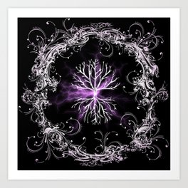 Tree of Life, Purple Universe, Cosmic Tree Art Print