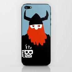 Viking and his morning coffee iPhone & iPod Skin
