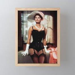 Sophia Loren Tribute Framed Mini Art Print