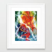perfume Framed Art Prints featuring Perfume by Janet Morgan