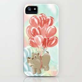 Flying hippos iPhone Case