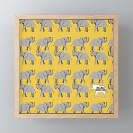 Save the Elephants Framed Mini Art Print