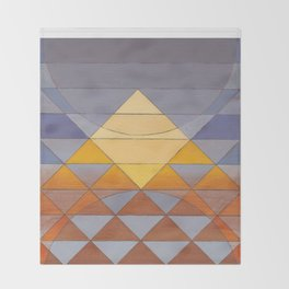 Pyramid Sun Mauve Purple Throw Blanket
