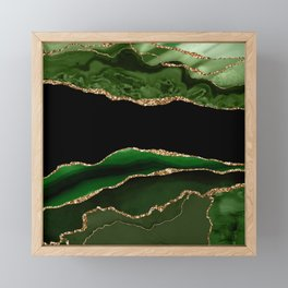 Emerald Marble Glamour Landscapes Framed Mini Art Print