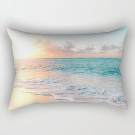 Pink Sea Rectangular Pillow
